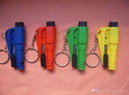 Wholesale 300PCS HHA143 Car Window Glass in Safety Emergency Hammer Seat Belt Cutter Tool Keychain