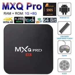 Wholesale MXQ Pro Android TV Box Amlogic S905X Quad Core bit Smart Mini PC G G Support Wifi Kodi K H Streaming Google Media Player