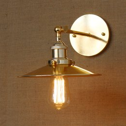 Wholesale Industrial Antique Vintage Retro Wall Light Lamp Shade Sconce Fitting Country Modern minimalist metal wall sconce