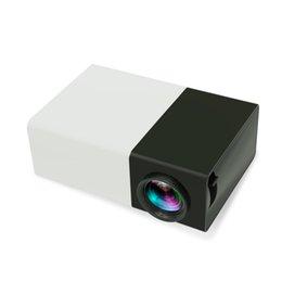 El jugador del sd para la televisión en venta-YG300 LCD 600LM proyector 3D Home Media Player Mini Proyector para Videojuegos TV de cine en casa de la película de la ayuda HDMI SD Inicio Midea jugador Negro