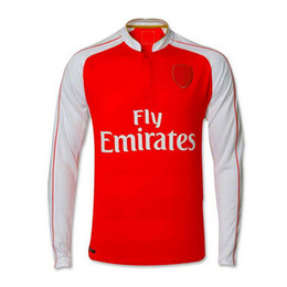 Wholesale Thai quality long sleeve togs Gunners Home shirts OZIL ALEXIS WELBECK man soccer jerseys FC Holloway football suit