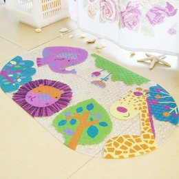 PVC mat shower rug anti-slip soft rubber cartoon design massage rug athroom Bath Mats And Toilet Skid Carpet Bathroom For Carpet