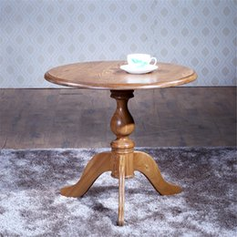 Wholesale 100 Solid Wood Furniture Round Table Side Corner Desk Coffee Table Leisure Balcony Table