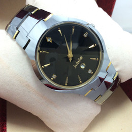 Tungsten steel watches men's watches waterproof ladies watch brand watch high quality quartz watches mirror Sapphire couple of tables