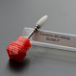 1PCS Fine White Ceramic Nail Drill Bit Milling Cutter Nail Art Salon Electric Drill File Manicure Machine Nail Art Tools
