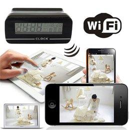 32GB Clock IP spy Camera wireless WiFi camera mini camcorders mini camera hidden camera DVR For Android IOS Phone Tablet Computer