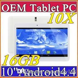 "Dhl de la tableta de 8 gb en venta-10X DHL 10 ""pulgadas MTK6572 de doble núcleo a 1,2 GHz Android 4.4 WCDMA 3G de la tableta llamada de teléfono bluetooth pc Wifi GPS de doble cámara de 8 GB 1 GB A-10PB"