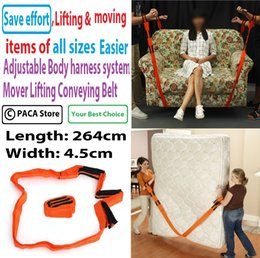 Wholesale Inch Furniture Moving Belt Team Straps Adjustable Mover Easier Lifting Conveying Belt for lifting and moving items