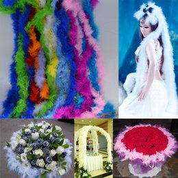 Wholesale 10pcs meter Feather Strip Wedding Marabou Feather Boa Party Supplies Accessories Decor Event Gift