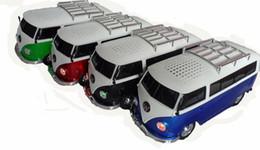 Wholesale 10 dhl free new bus stereo bluetooth speaker WS BT new gift cartoon children vw bluetooth speaker