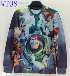 Wholesale Mikeal New Fashion men women d cotton sweatshirt funny print Animated cartoon characters dinosaurs hoodies Asia S XL