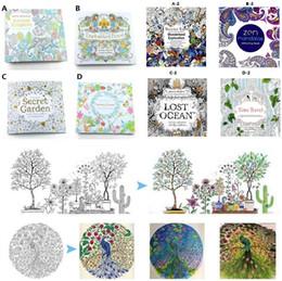 Wholesale Le plus récent jardin secret adulte anglais décompression peint à la main couleur dans le livre à colorier Enchanté forêt enfants Coloriage Livres