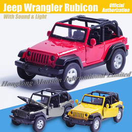 1:32 Scale Diecast Alloy Metal Luxury SUV Car Model For Jeep Wrangler Rubicon Collection Off-road Vehicle Model Toys Car