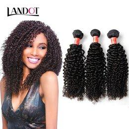 24 profonds faisceaux de cheveux bouclés en Ligne-Brazilian Curly Virgin Hair Weaves Ingrédient indigène péruvien malais Cambodge Mongolien Deep Kinky Curly Remy Human Hair 3/4 Bundles