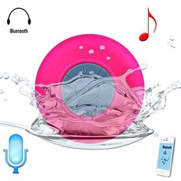Wholesale Portable Waterproof Wireless Bluetooth Speaker Shower Car Handsfree Receive Call mini Suction IPX4 speakers box player Mic Promotion