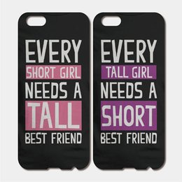 Wholesale For iPhone S Plus SE S C S iPod Touch Hard PC Cute Best Friend Short And Tall Matching Phone Cases