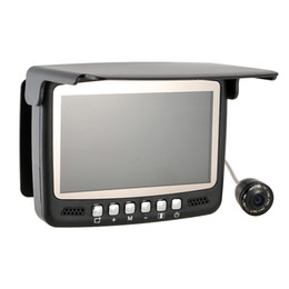 Wholesale 4 quot Digital Color TFT Monitor Infrared LED TVL HD Underwater Fishing Camera M Cable Fish Finder Night Vision Y2679