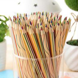 20pcs lot Rainbow Pencils 4 in 1 Color Pencil Drawing Painting Pencil Office & School Supplies Material Escolar Papelaria