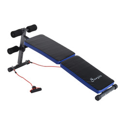 Wholesale Folding Adjustable Sit Up Weight Bench Ab Decline Fitness Resistance Bands