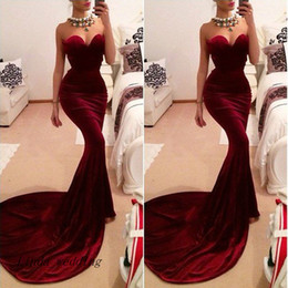 Free Shipping Burgundy Wine Red Velvet Prom Dress New Sheath Sweetheart Sleeveless Slim Long Formal Party Gown