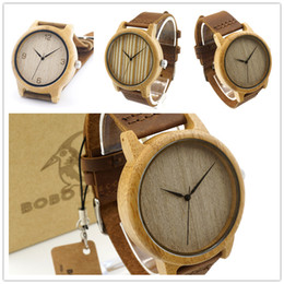 top quality watch mens watches Bamboo watches Japan movement original cowhide men's watch wooden bobobird 444