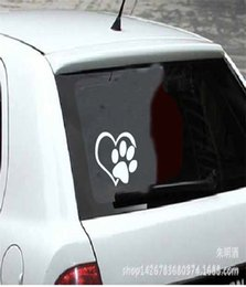 Wholesale Decal Sticker PAW HEART Vinyl Decal Sticker Window Wall Bumper Animal Adopt Dog Cat Love Pet Car Decal Sticker Decal Sticker Sticker Bomb