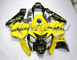 Wholesale New ABS plastic Aftermarket Fairing kit Fit for HONDA CBR600RR F5 CBR RR Bodywork Fairings set yellow black Repsol