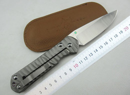 Wholesale Chris Reeve Large Sebenza 21 Titanium Handle D2 steel blade Folding knife EDC Pocket Knife survival knives with gift box pack