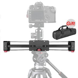 Wholesale Professio Portable Compact cm quot Adjustable DSLR Video Camera Slider Double Distance for Canon Nikon Sony DSLR DV Camera Dolly Stabilizer