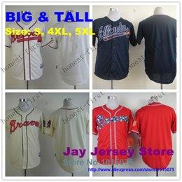 Wholesale Big Tall Atlanta Braves Jersey Size S XL XL Dale Murphy Freddie Freeman Chipper Jones Andrelton Simmons John Smoltz Teheran