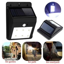 Wholesale Bright LED Wireless Solar Powered Motion Sensor Light Waterproof LEDs Outdoor Corridor Entrance door Mailbox Garden Fence Park Wall Lamp