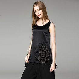 Wholesale Original design summer new European and American fashion sweaters sleeveless T shirt Heavy beading blouses