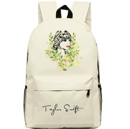 Ivory Taylor Swift backpack Sketch school bag Sign daypack Quality schoolbag New game play day pack