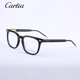 Men Women Optical acetate prescription spectacle Square Thom tb402 TB-402 Myopia Eye glasses Frame Eyeglasses Frame 53mmwith original case