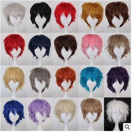 Wholesale Amout of stocks Shaggy layered color short straight costume cosplay anime wig
