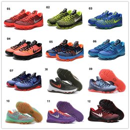 Wholesale 2016 Cheap Sale KD Men s Basketball Shoes for Kevin Durant KD8 Best Quality Training Sports Training Sneakers Size US