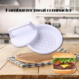 Wholesale DIY White Plastic Hamburger Meat Beef Grill Burger Press Patty Maker Mold Mould Kitchen Stufz Machine Patties