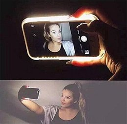 Wholesale iPhone lead light up case Luminous Selfie Cell Phone Illuminated Back Cover with LED flash light for Apple iPhone Plus