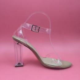 PVC Clear Sandals Wmen Wedding Shoes Clear Heels 2017 Fashion Shoes Celebrity Wearing Transparent High Heel Sandals Custom Colors