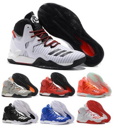 Wholesale 2016 New arrival D Basketball Shoes Men Boots VII White Christmas Sneakers Derrick Rose Ad Sports Top Quality Sneaker