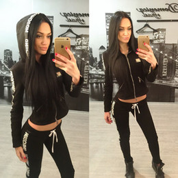 Wholesale Athletic wear sweater suits female suits Women s Sport Suit Women Leisure Sports Hoodie Set piece Thickening Sweater