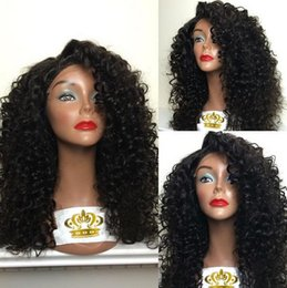 Afro Kinky Curly Synthetic Lace Front Wig Glueless Heat Resistant Hair Wigs With Baby Hair For Black Women