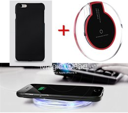 Wholesale Qi Wireless Charger Receiver Case Wireless Charging Pad Kit For iPhone s Power Charging Transmitter Back Cover Shell Pad Set