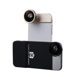 Wholesale R Just Bluetooth Wide Angle Fisheye MicroLens with Phone Case Cover for Apple iPhone S High End Camera Len Quick Shot Snapshot