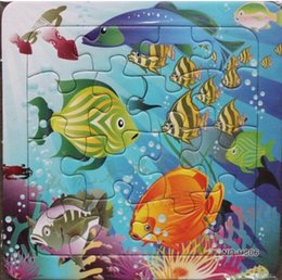 Educational toys puzzles,33 grams of high quality cardboard jigsaw puzzle for children, 14 * 14cm