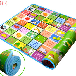 2*1.8m Kids Crawling Play Mat Children Double Side Pad Children Develope Gym Carpet Floor Mat Fruit Millionaire Game Picnic Carpet SV006830