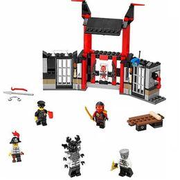 Wholesale Ninjagoes Series Building Block Phantom Ninja Justice Gate Prison Escape Minifigure kids Toys Best Legoelieds Gift Bricks