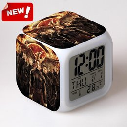 Wholesale The Hunger Games Part Alarm Clock Led Light Color Change Electronic Desk Digital Watch Relogio