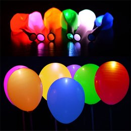 Wholesale 12 inch led lighted up balloon colorful lamp balloon latex balloons birthday party decoration led sky lantern inflatable air balloon