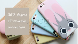 Wholesale Zootopia cartoon iphone s case Anti skid PC Material cover Judy Hopps Rabbit Benjamin Clawhauser Flash for iphone s plus retail package